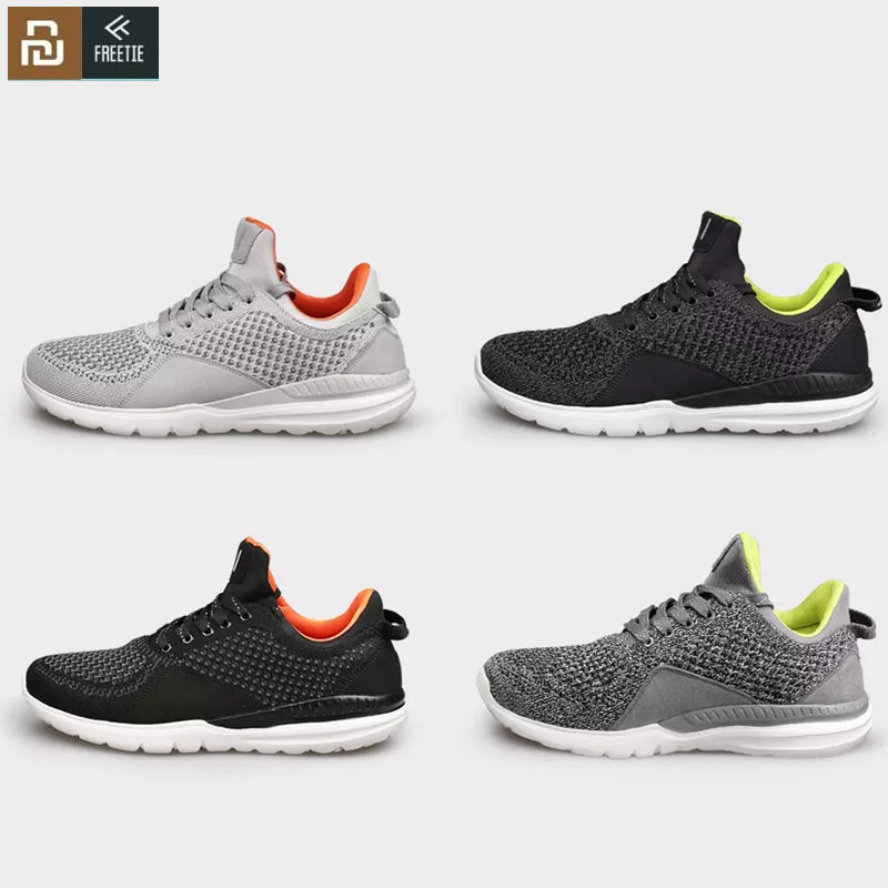 Youpin FREETIE Men Light Running Shoes Air Mesh Breathable Cushioning Casual Outdoor Sneakers Shoes For Xiaomi Mijia Sport Shoes