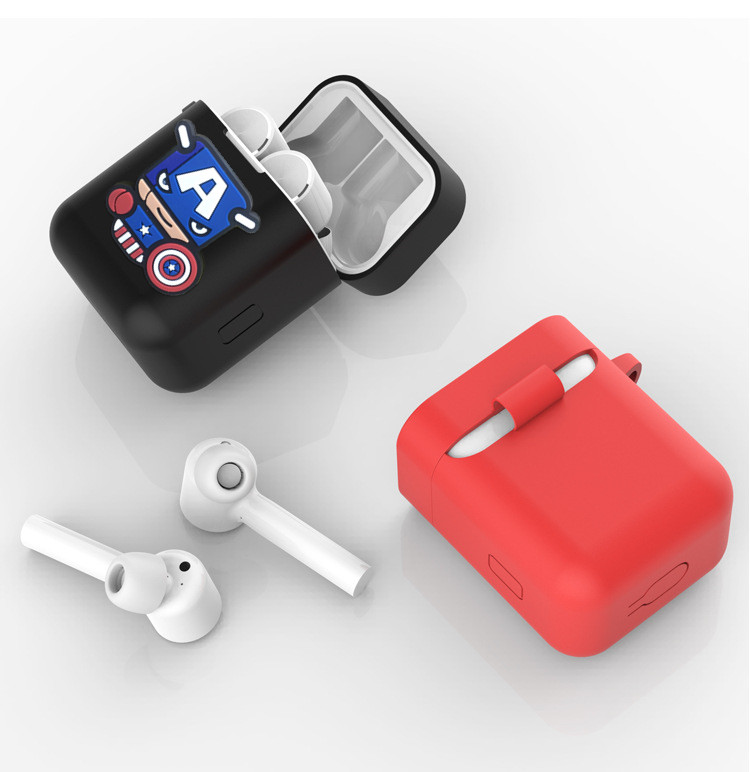 Cartoon Silicone Case Cover For Xiaomi Mi AirDots True Wireless Bluetooth Earphone Shockproof Bag For Xiaomi Mi Air Charging Box