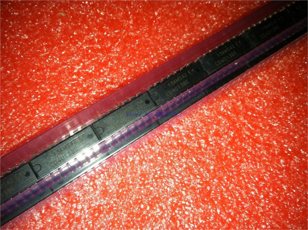 10pcs/lot HEF4013BP=CD4013BE CD4013BP HCF4013 Dual D-type Flip-flop DIP-14 In Stock
