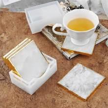 9センチメートル平方シリコーン型diyエポキシ樹脂コースター収納ボックス樹脂型結晶コースター鋳造金型