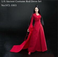 1/6 женские древних платье красная юбка Костюмы Набор Модель VERYCOOL VCL-1003 подходит 12