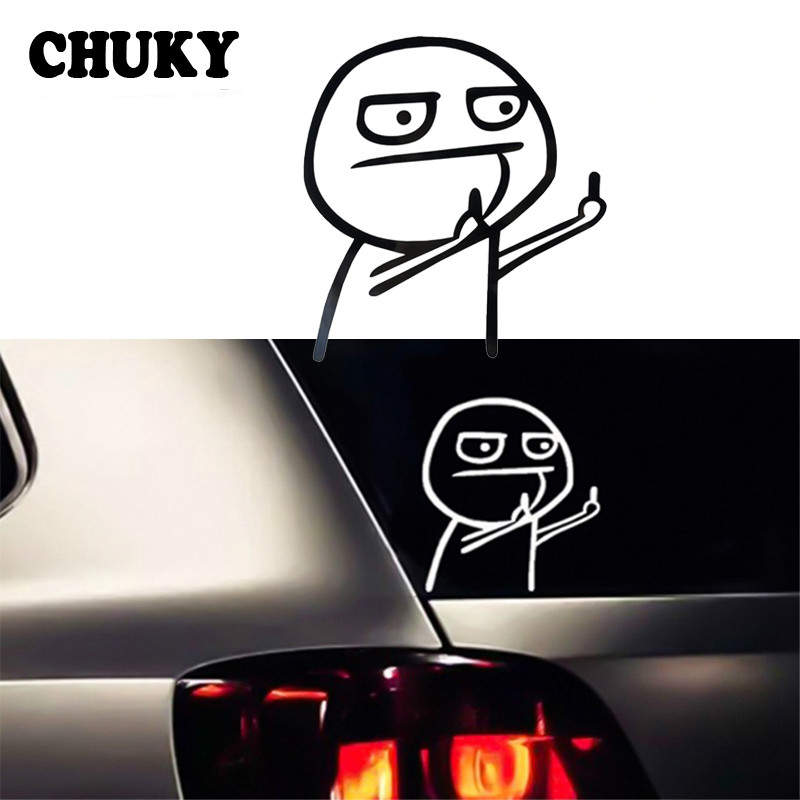 Car Auto Sticker Funny Cartoon Middle Finger For Citroen C5 C4 C3 Audi A4 B8 B6 B5 B7 B9 A3 8P 8V 8L Q5 Q7 A5 A6 C6 C7 Tt Q3 A1