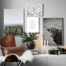 Nordic Poster Forest Canvas Wall Art Print Minimalist Painting Decorative Picture Landscape