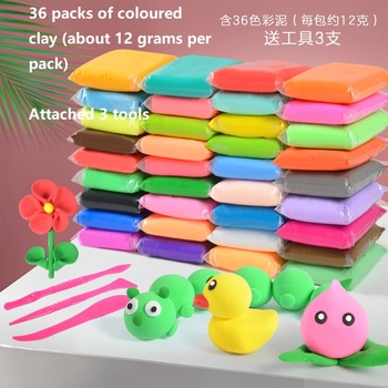 Ultra Light Clay 36 Colors Playdough Air Dry Clay  Modelling Light DIY Plasticine Learning Kids Toys Plasticine Soft Caly Tools 36 colors слайм super light clay with 3 tools air drying light plasticine modelling clay handmade educational 5d toys blue clay