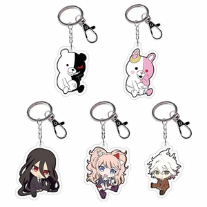 Anime Danganronpa Dangan Ronpa Komaeda Nagito Acrylic Figure keychain Keyring Decoration Collection Model Toy Cosplay(China)