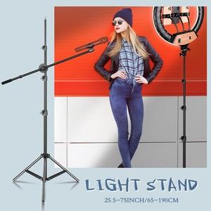 Image 5 - Photography Studio Adjustable 190CM Light Stand Tripod 1/4 Screw Head For Camera Photo Lamp Bracket Holder Soft box Ring Light