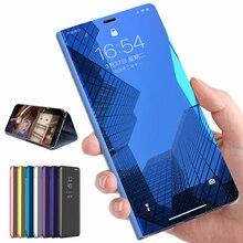 Mirror Flip Smart Case For Xiaomi Redmi Note 7 5 6 Pro 4 4X