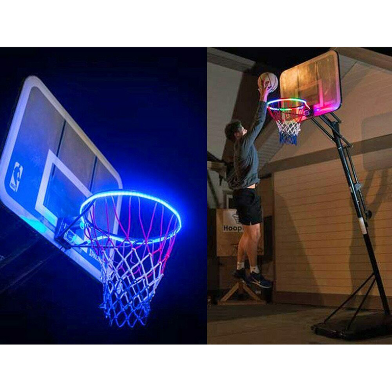 Basketball Rim LED Solar Light Playing At Night Light Boys Bedroom Home Decor @LS