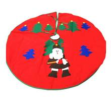 1Pc Monolayer Christmas Tree Skirt Santa Claus Forest Decals Tree Base Decoration for Party(China)