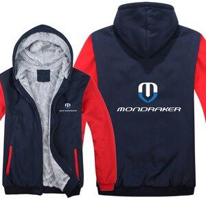 Image 2 - Mondraker จักรยาน Hoodies Mens Zipper เสื้อขนแกะ Thicken Mondraker เสื้อกันหนาว