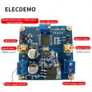 Image 2 - Ina114 모듈 계측 증폭기 1000 배 이득 조정 가능한 단일 전원 공급 장치 단일 종단/차동 입력