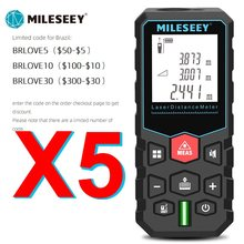 Mileseey medidor de distância a laser roleta eletrônica laser digital fita telêmetro trena laser range finder fita de medição