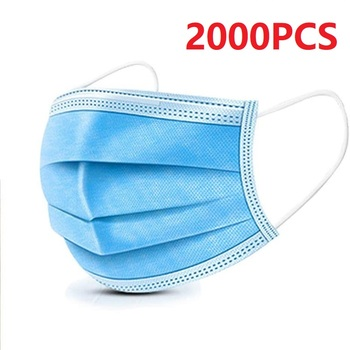 10-2000PCS 3-Laye Mask Dust Protection Masks Disposable Face Masks Elastic Ear Loop Disposable Dust Filter Safety Mask Anti-Dust