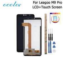 Ocolor para leagoo m9 pro display lcd e tela de toque digitador substituição + ferramentas adesivo para leagoo m9 pro telefone filme