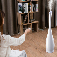 220V Floor Stand Smart Remote Control Air Humidifier 5L 30W Air Mist Maker 4 Layers Water Filter/Automatic Humidistat