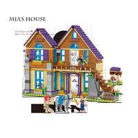 2019 nuevos amigos chica serie Mia's villa Casa Compatible Legoinglys amigos 41369 bloques de construcción de juguete para niños