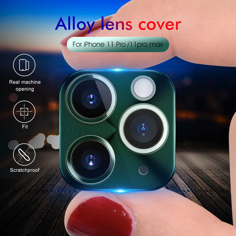 Voor Iphone 11 Pro Max Camera Protector Case Op Voor Iphone 11 2019 11 Pro 11Pro Metalen Rear Camera Lens beschermende Ring Cover