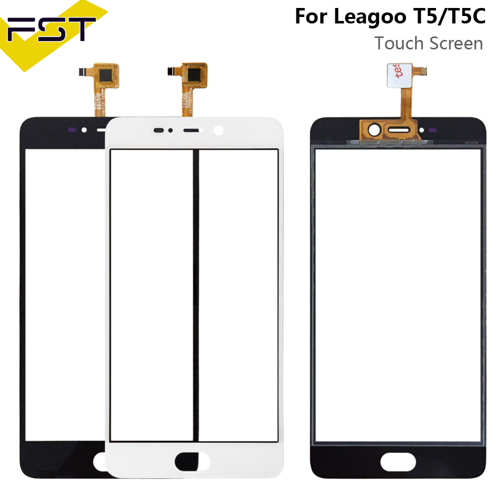 5.5''Black/White Tested Well Touch Screen Digitizer For Leagoo T5 Touch Panel Front Glass Lens Sensor Touchscreen For Leagoo T5C