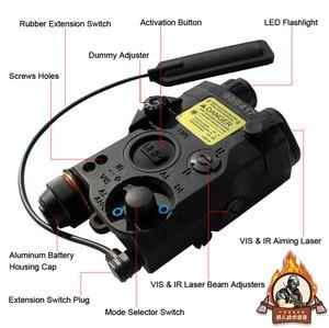 Image 2 - Novo tático airsoft lanterna peq laser verde LA 5C uhp ir laser led ir laser la5 softair tático peq luz estroboscópio