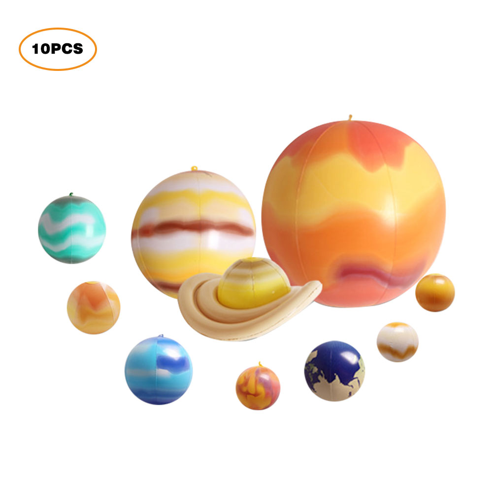 Inflatable Plane Glow In The Dark Solar System Inflatable Nine Planets Solar System Educational Gadgets Decoration And Teaching