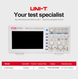 Image 2 - ملتقط الذبذبات الرقمي UNI T UTD2102CL المحمولة 100MHz 2 قنوات 500 عينات عملاقة/ثانية USB راسم الذبذبات Ociloscopio autootivo Portatil
