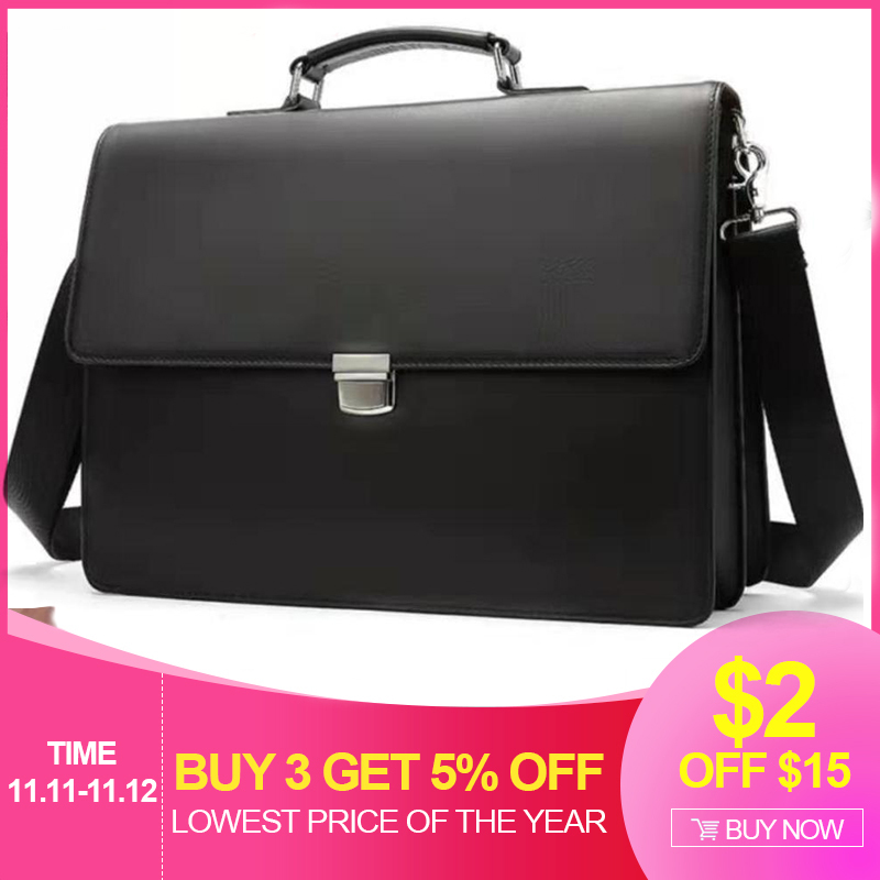 Men's Briefcases Laptop Bag Leather Bag Genuine Leather Lawyer/Office Bags For Document/Computer Bags Briefcase