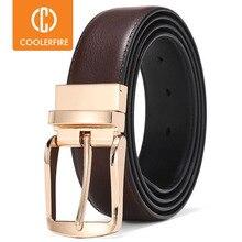 Men Reversible Dress Belts Casual High Quality Belt Genuine Leather Belt Male Vintage Luxury Coolerfire HQ108