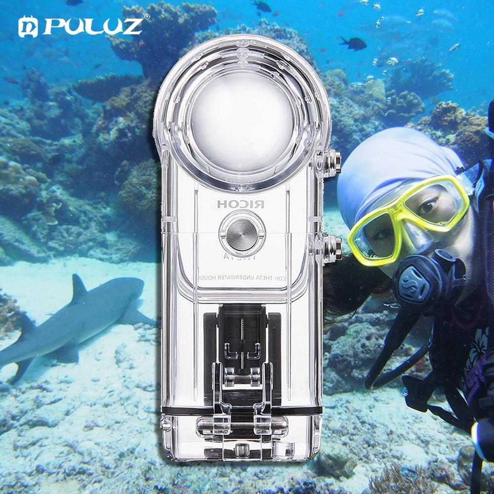 Boîtier étanche PULUZ 30M pour RICOH Theta V/Theta S & SC360 360 degrés accessoires pour caméra boîtier coque de protection de plongée