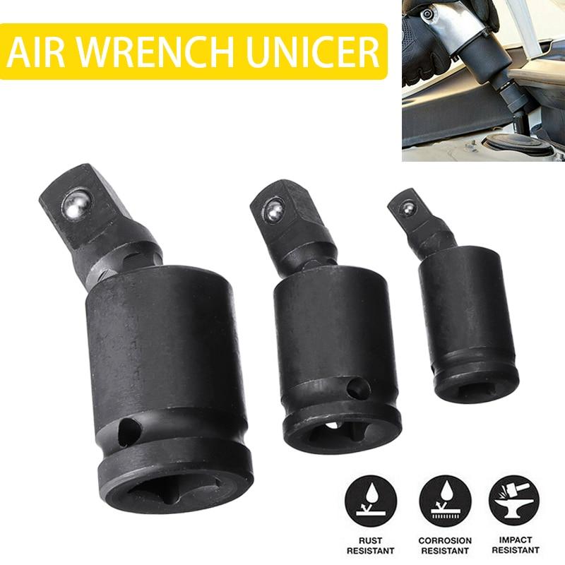 3pcs Universal 360 Degree Ratchet Wrench Sockets 1/4
