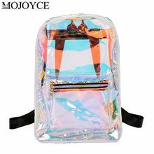 Transparent Holographic Backpacks Korean Style Small Daypacks For Girls Shining Hologram Shoulder School Bags Fashion Knapsack