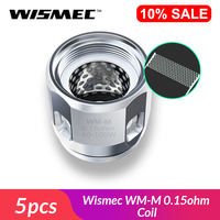 Clearance Original Wismec WM-M 0.15ohm Coil head Replacement Coil head 65-75W for RX GEN3 Gnome Tank Electronic Cigarette