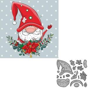 Для фотографирования с изображением весенних цветов гномик Рождественский Скрапбукинг металлический Трафаретный вырубной штамп alinacrafts шт...