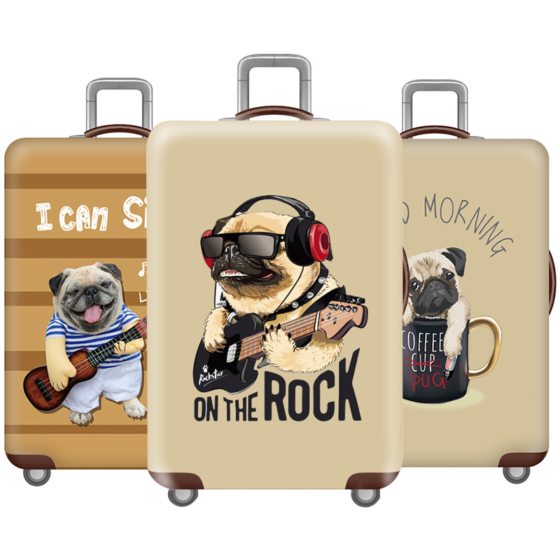 Thicken Dog Luggage Cover Elasticity Travel Luggage Protective Covers Suitcase Cover 18-32 Inch High Quality Travel Accessories