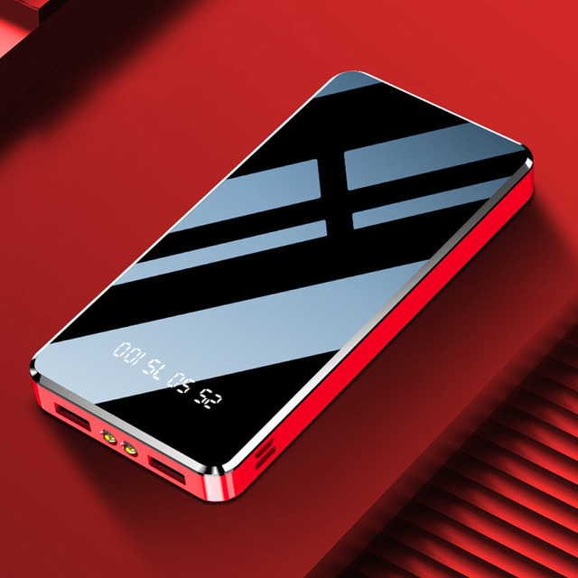 FLOVEME Power Bank 20000mAh Dual USB กระจกหน้าจอจอแสดงผล LED Powerbank ชาร์จแบบพกพาสำหรับ Xiaomi ภายนอกแบตเตอรี่ Poverbank