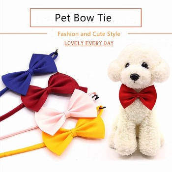 1PC Pet Dog Cat Bow Tie Domestic Adjustable Necklace for Dogs Cats Accessories Pet Dog Bow Tie Puppy New Pet Bow Tie image