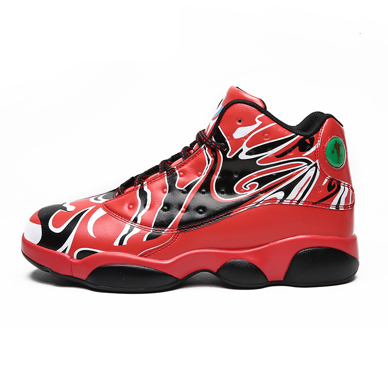 Jennifer Men Air Cushioning Jordan Retro Basketball Shoes High-top Basketball Sneakers Outdoor Couple Sports Boots Unisex New