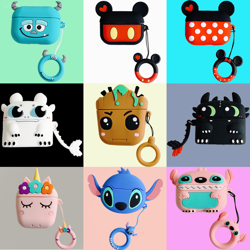 Cartoon Cute Box Wireless Bluetooth Earphone Airpods Pro Protective Cover Case For Apple Airpods Pro Headset Silicone Soft Cases