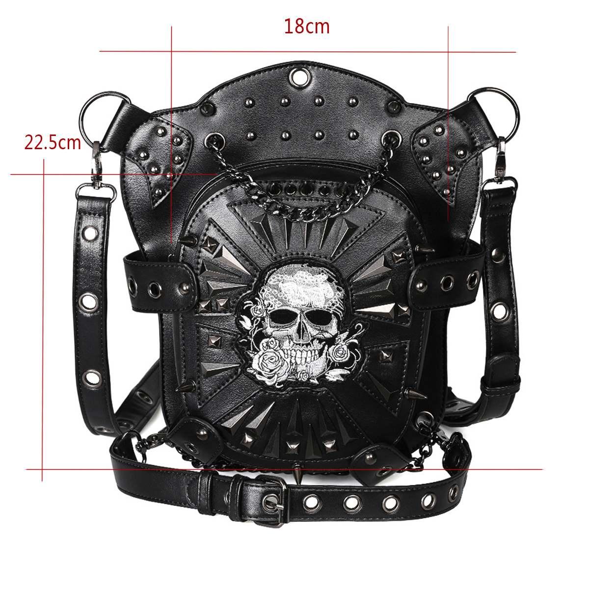 punk retro rock gótico saco ombro sacos