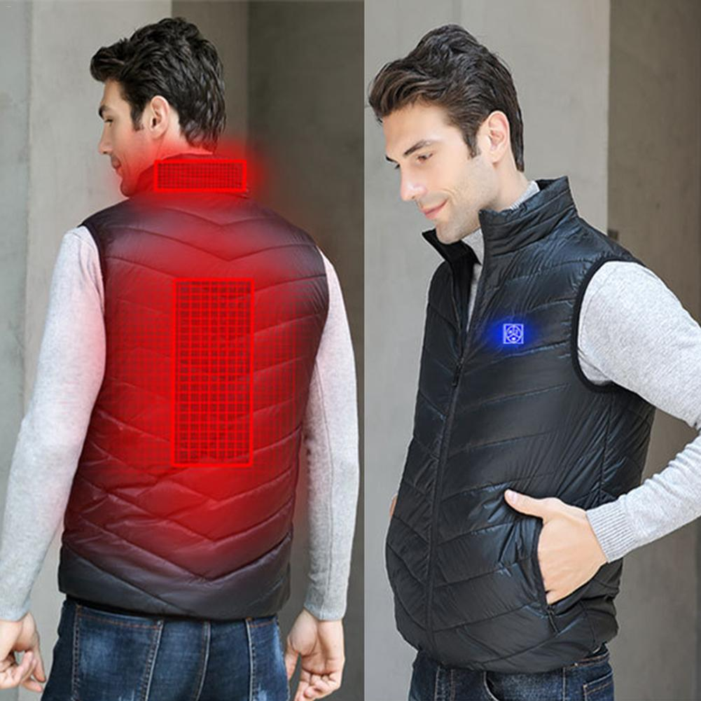 Electric Heated Vest Jacket For Motorcycle Waterproof Intelligent Infrared Heating Vest USB Charging Keep Warm Thermal Coat title=
