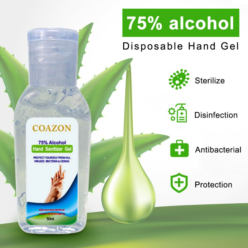 Hot Sale 50ml Quick-drying Disinfecting Hand Wash Gel Disposable Hand Sanitizer First Aid Prevent Bacteria And Viruses