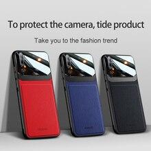 10 teile/los Zurück Telefon Fall Für Xiaomi CC9 9 9SE Pro 9 Lite Für Redmi 8 8A 7 Organische PC körnigen Haut Muster Leder Abdeckung Coque
