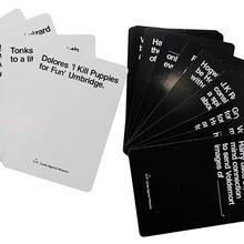 Один со всеми картами английская версия вечерние держатель карточек настольных игр против гуманности