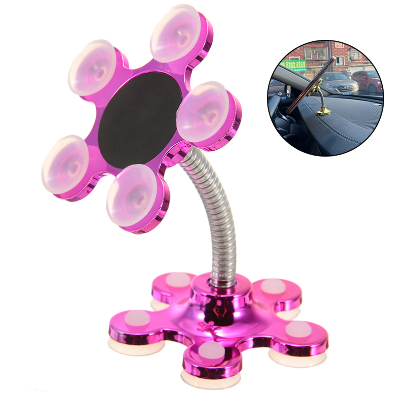 Portable Sucker Stand Phone Holder 360 Degree Rotation Suction Cup Mount Mobile Phone Holder Car Bracket Smartphone Holder