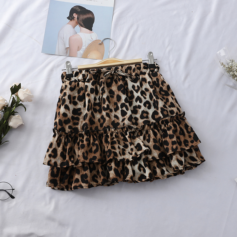 Heliar 2019 Spring Women Skirt Fashion Leopard Skirt High Waist Outwear Female Sexy Night Club Skirt Casual Women Mini Skirt