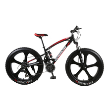 26 inch mountain bike 4 0 fat tire mountain bicycle high carbon steel bike beach snow bicycle 7 21 24 27 speed fat bike cheap Aluminum Alloy Unisex Magnesium Alloy 30kg 200kg 34kg Resistance Rubber (Medium Gear Non-damping) Double Disc Brake 150-200cm