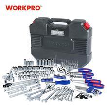 Workpro 123pc conjunto de ferramentas misturadas mecânica conjunto de ferramentas chave catraca soquete conjunto 2019 novo design
