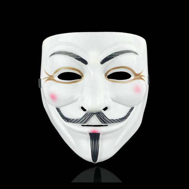 Movie Cosplay V for Vendetta Hacker Mask Anonymous Guy Fawkes Halloween Christmas Party Gift for Adult Kids Film Theme Mask 4