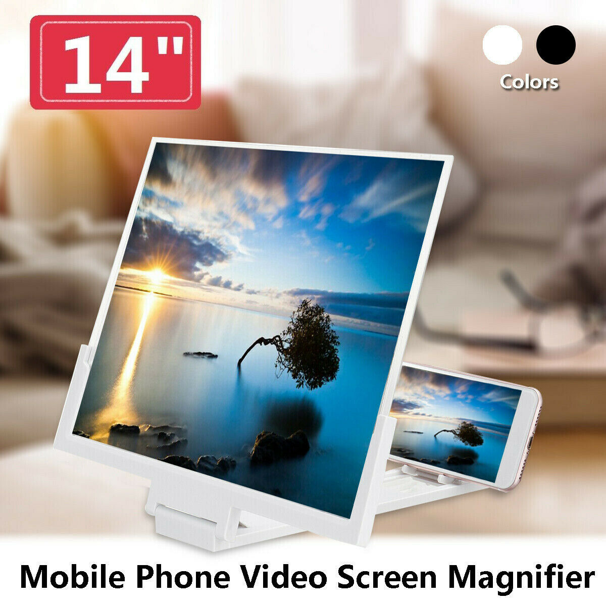 Ottwn 14Inch 3D Screen Amplifier Mobile Phone Screen Amplifier HD Stand For Video Folding Screen Enlarged Eyes Protection Holder