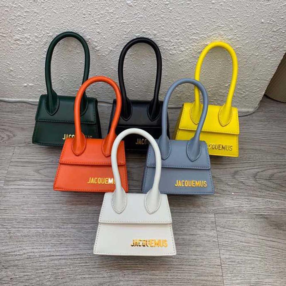Jacquemus mini bolsa carteiro feminina, mini bolsa transversal de couro pu de alta qualidade, bolsa de mensageiro, pequena, de marca, 2020