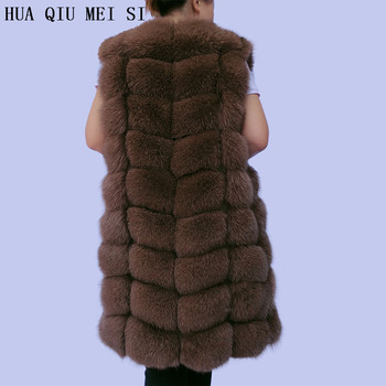 Natural fur vest warm real fox coat female autumn high quality free shipping natural